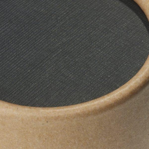 Deckel der nachhaltigen betubed Pappdose in der Detailansicht