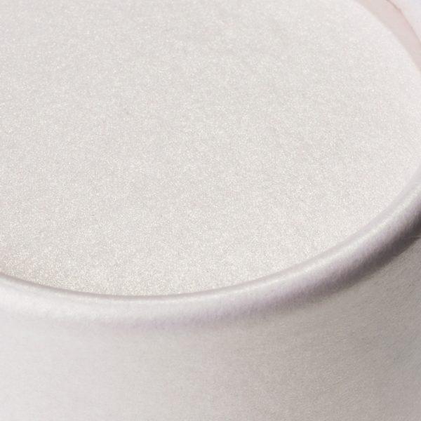 Deckel der nachhaltigen, betubed Pappdose zartrosa in der Detailansicht