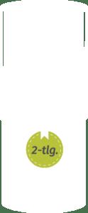 2-teilige betubed Pappdose als Skizze