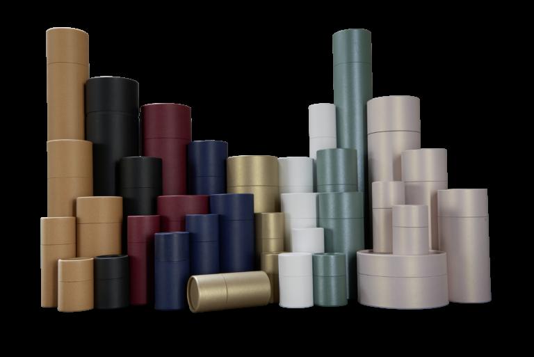betubed Pappdosensortiment in verschiedenen Farben und Größen