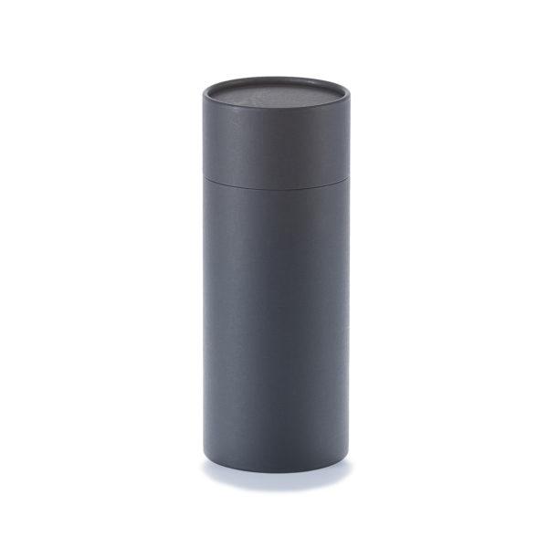 schwarze betubed Pappdose 215 x 86 mm